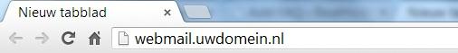URL Balk van uw browser