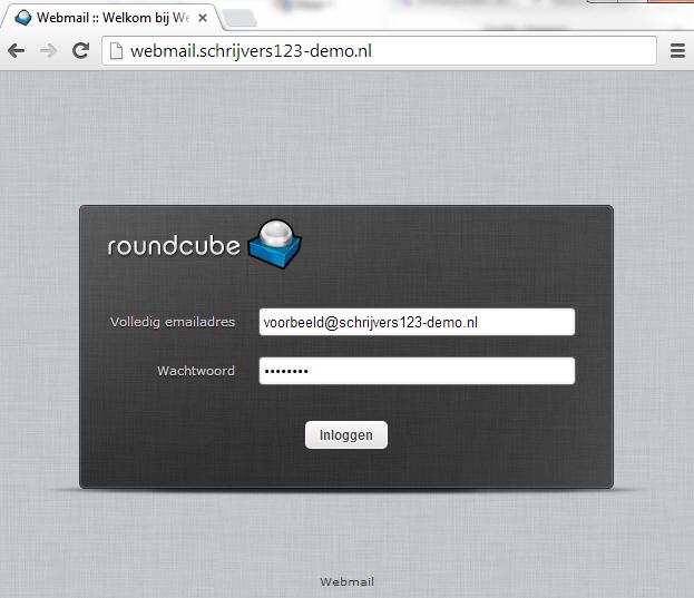 Loginscherm webmail