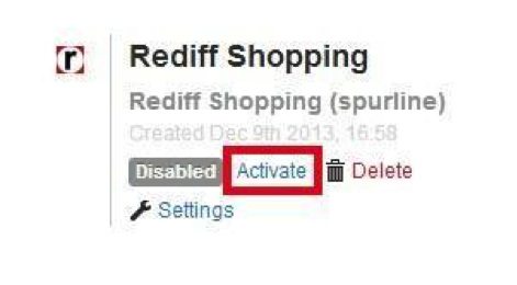 Rediff channel activation