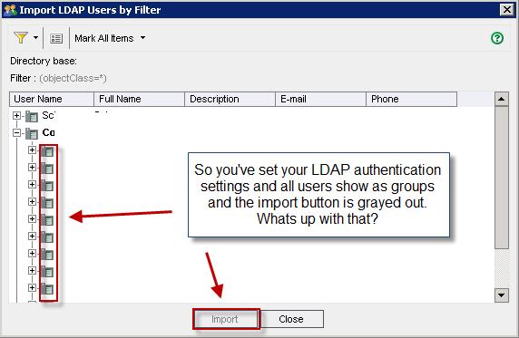 Import LDAP Users Step 1