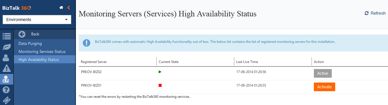 High Availability Status