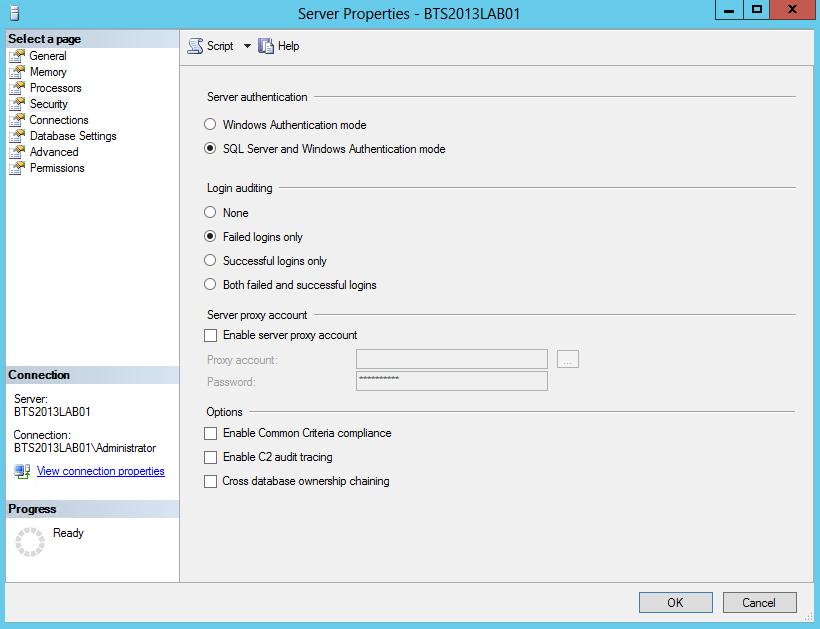 window server properties