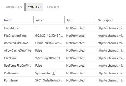 service instance message context