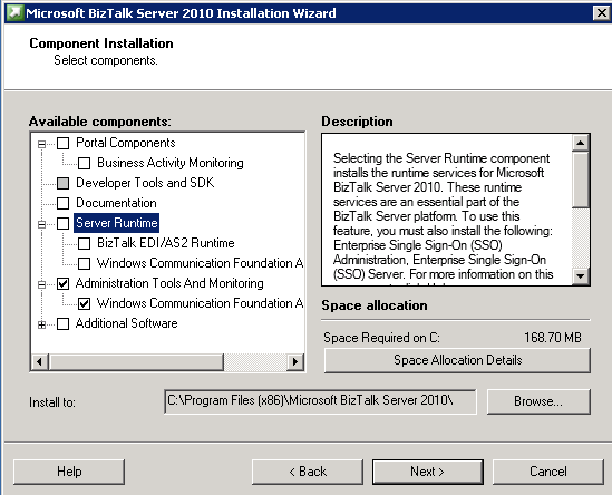 microsoft biztalk server 2010 installation wizard