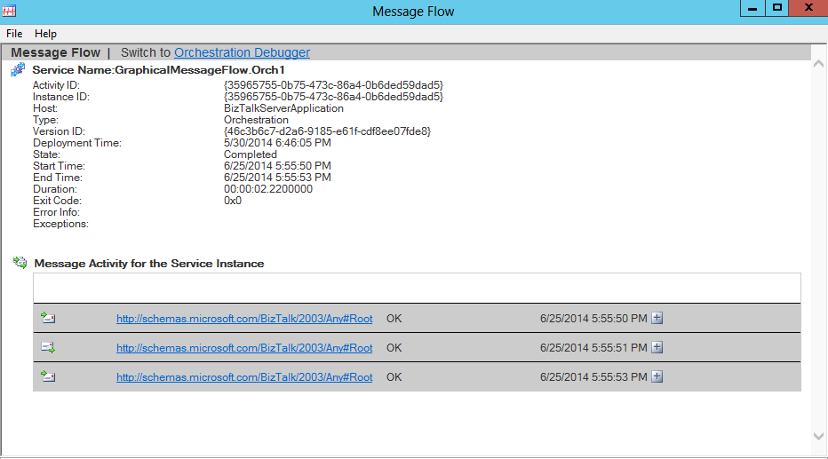 service instance (orchestration) properties