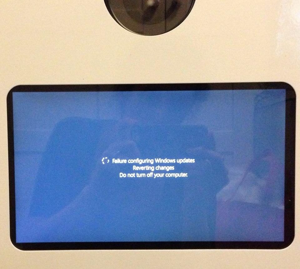 reverting changes windows update