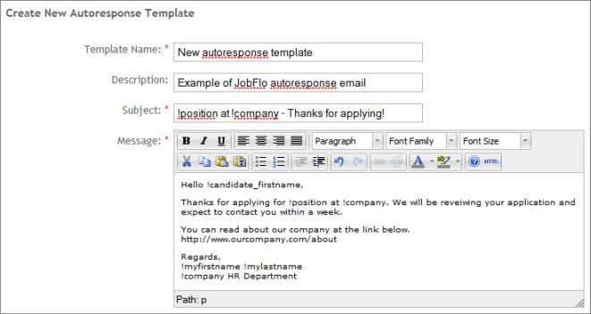 Customize Your Job Application Autoresponse Email Jobflo Jobflo