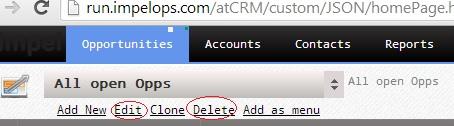 Edit Delete Data Views