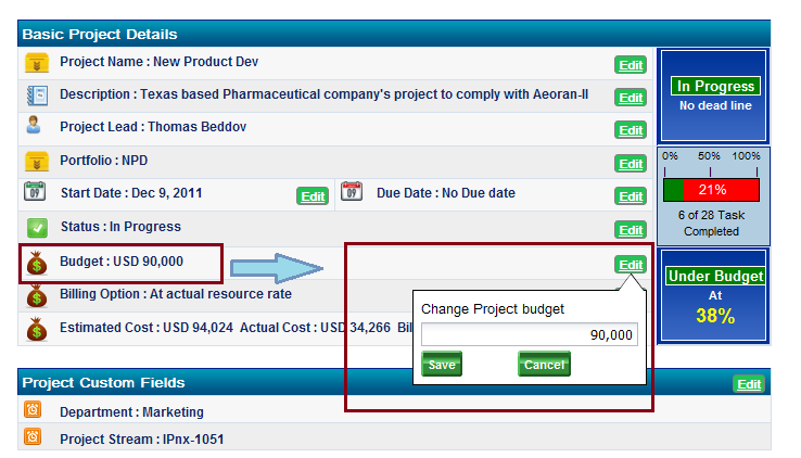 Project Financial Management: Set Project Level Budget