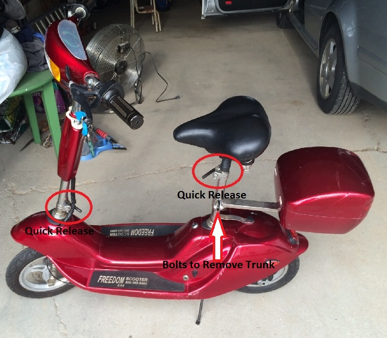 Folding A Freedom 644 Electric Scooter