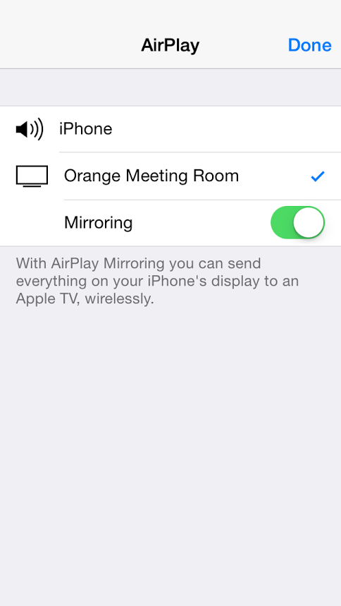 how to connect iphone to tv wireless app