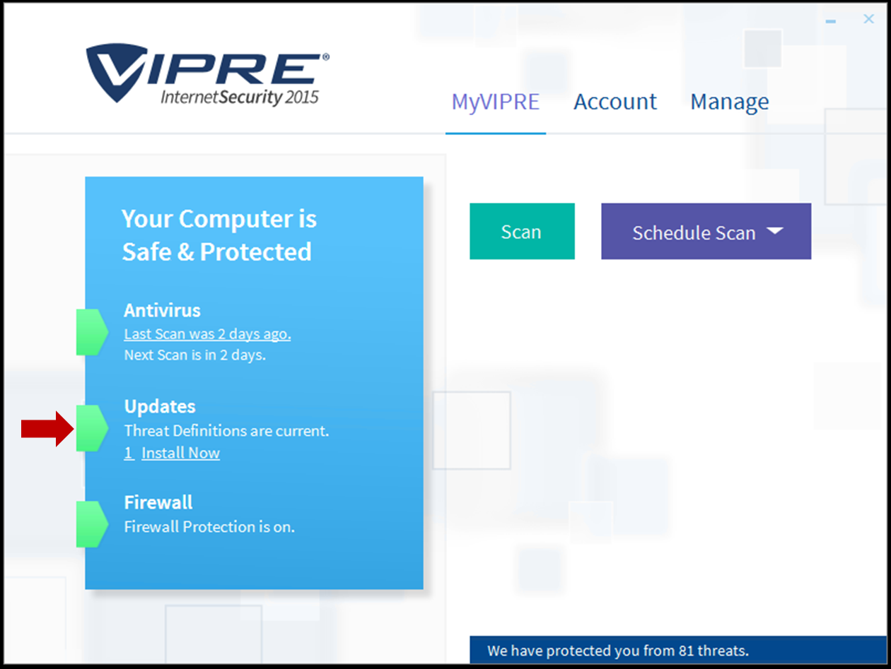 manually update vipre business definitions