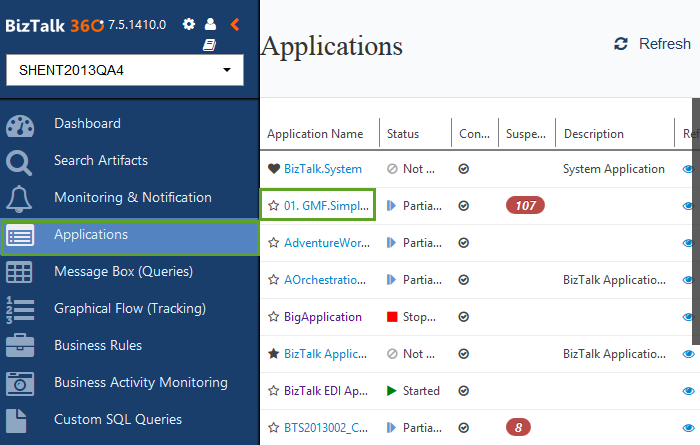biztalk application monitoring in biztalk360