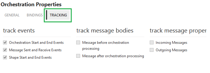 orchestration tracking properties in biztalk360