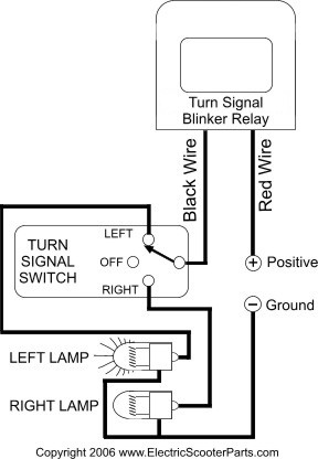 Installing Turn Signals : ElectricScooterParts.com Support | Gy6 Flasher Relay Wiring Diagram |  | Support : ElectricScooterParts.com Support