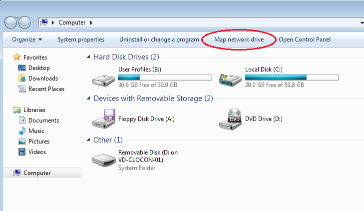 Map a Network Drive Missing : CloudConnect Technical Support Mapped Drives Windows on