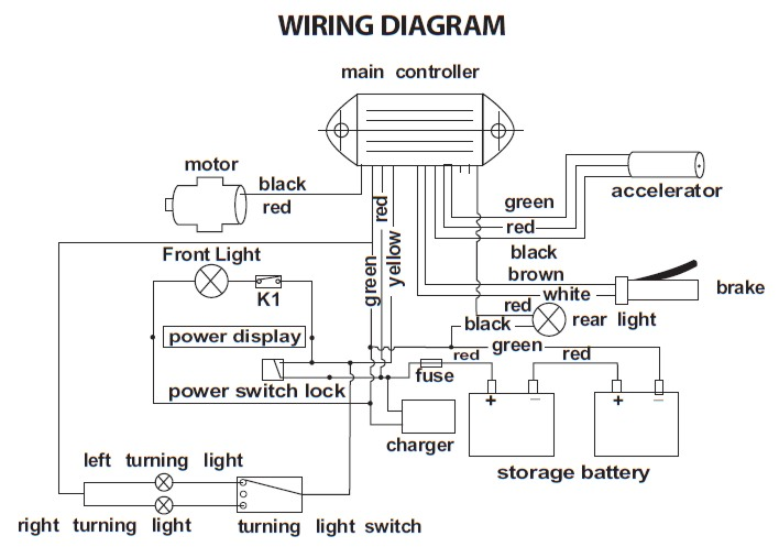 Freedom Scooter 644 Wiring Diagram   Electricscooterparts