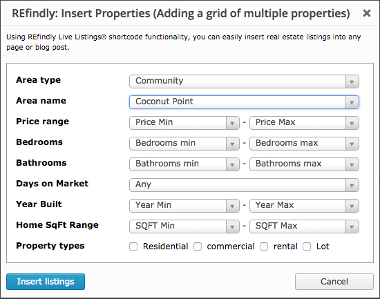 Multiple listing insert refindly help desk for Embed a forum into your website