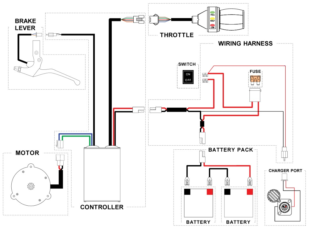 schwinn s500 cd wiring diagram and electricscooterparts com support rh support electricscooterparts com Battery Schematic Diagram battery cable wiring
