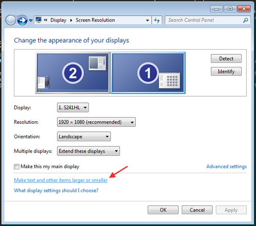windows 10 how to find display advanced settings refresh rate