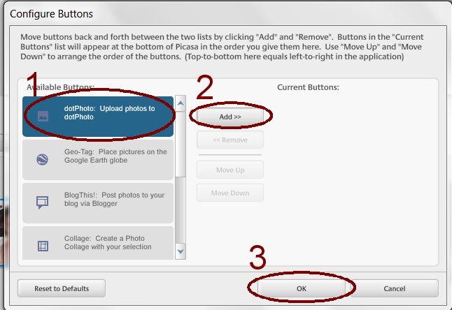 how to add multiple photos in picasa