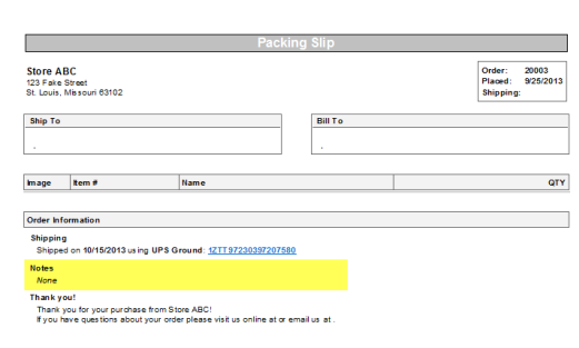 Creating Notes to Appear on Packing Slips : ShipWorks Support