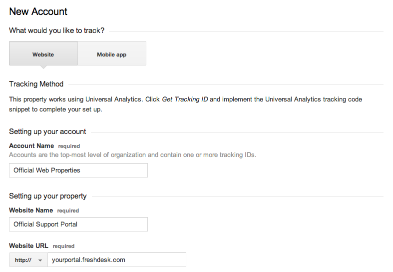 Adding Freshdesk Support Portal to Google Analytics