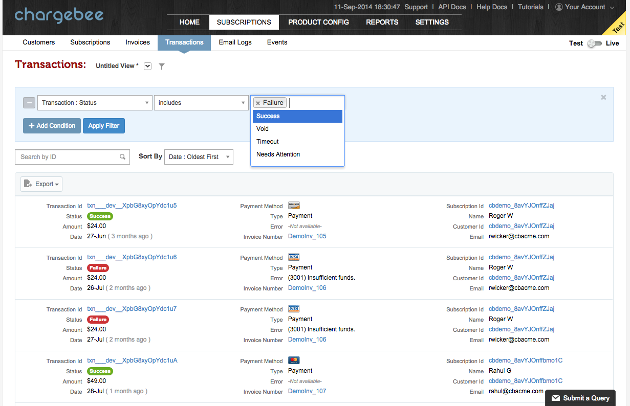 UI redesign to include more columns, saved searches & named ...