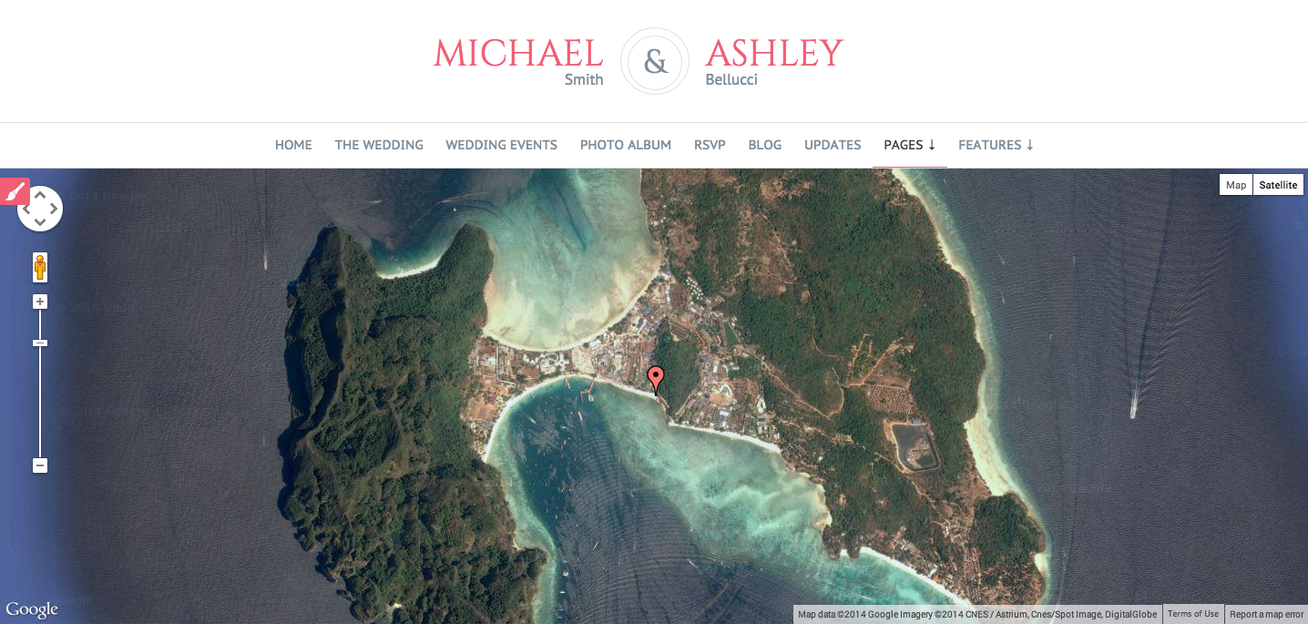 How to change the Google map in the Wedding Locations page ... Edit Home On Google Maps on