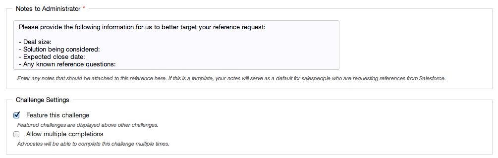 Salesforce: Reference Request - AdvocateHub Knowledge Base