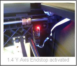 Y-Axis Endstop Activited