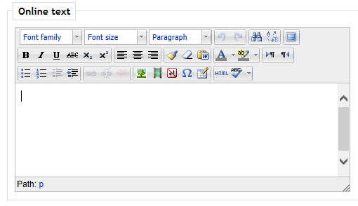 Online text editing