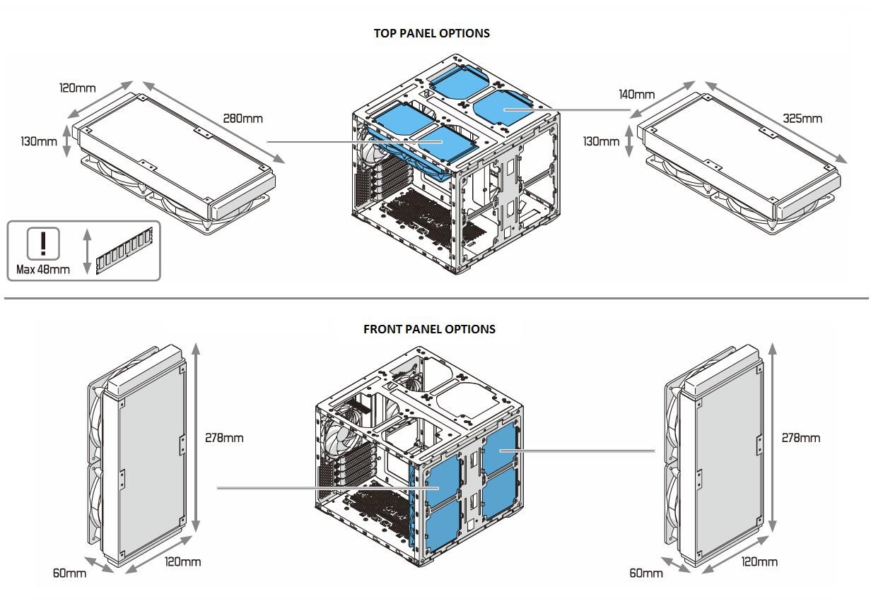 Node 804: Water Cooling Radiator Options : Fractal Design Support #197AB2