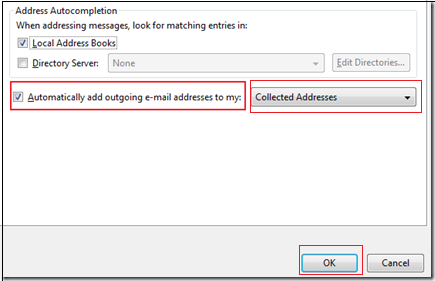 email address not save automatically in address book of thunderbird