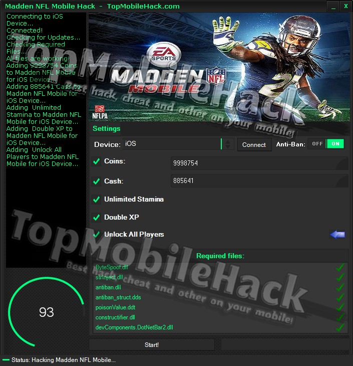 Ios android madden nfl mobile hack cheats get free coins cash