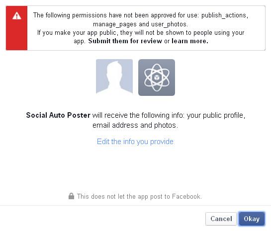 Facebook App Grant Step1