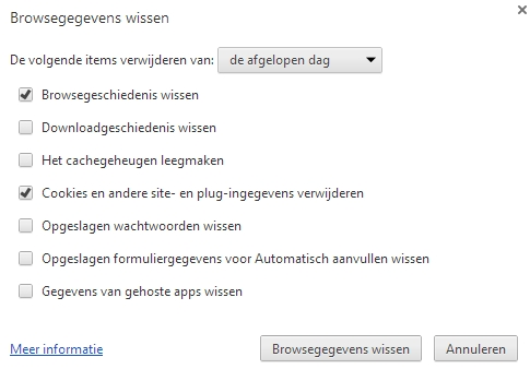 Clear History Google Chrome browser