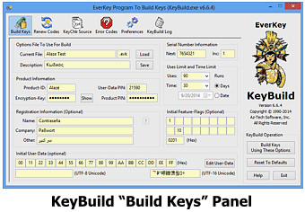KeyBuild Build Keys Panel