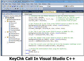 KeyChk Call In Visual Studio C++