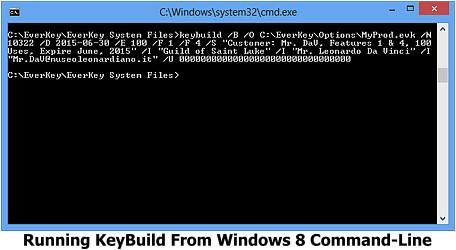 Running KeyBuild From Win8 Cmd-Line