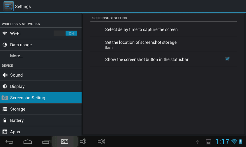 how to take screenshot in tablet