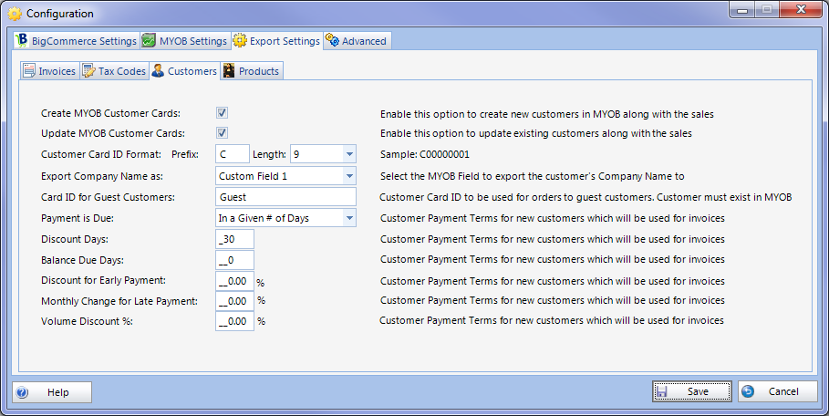 Configuration Export Customers Setup.png
